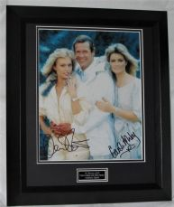 "A934CAMSBG CAROLE ASHBY & MARY STAVIN - ""BOND GIRLS - A VIEW TO A KILL"" AUTHENTIC DUAL SIGNED"